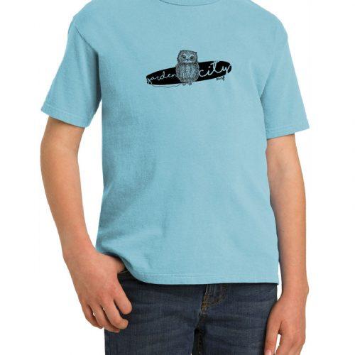 Owl Blue Kids Cotton T-Shirt