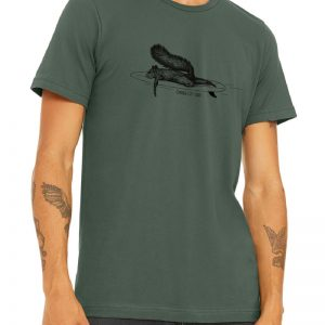 Squirrel Military Green Men T-Shirt